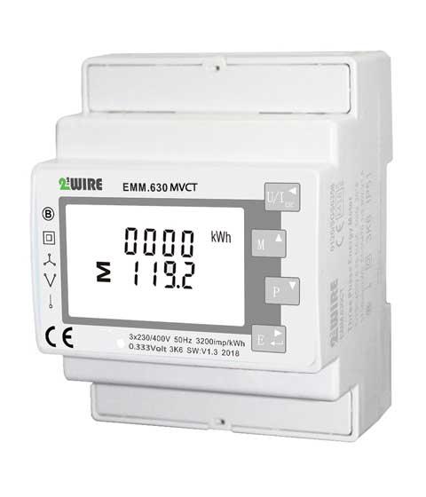 Energy Meter 3F/333mVolt CT, Modbus+pulse